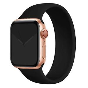 Silicone Solo Loop Band Strap for Apple Watch Series 7 6 SE 5 4 3 44/40/38/42 mm