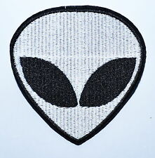 Hot Sale ! 3.4 inch ! Alien Head UFO Roswell AREA 51 hippie iron on patch