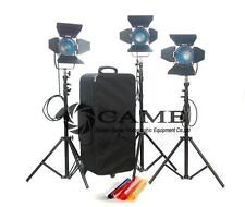 3×300W Fresnel Tungsten Spot Light Video Continuous Light Film Light
