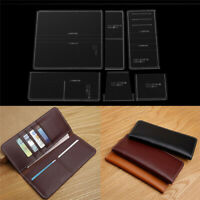 Acrylic Template for business long wallet Leather craft Pattern stencil-3