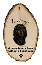 Outdoor Welcome Sign (Tb) - Black and Tan Coonhound 51192