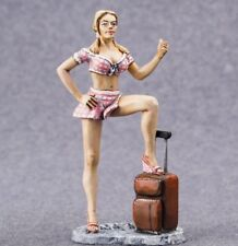 Toy Soldiers Painted 54mm Female Figure Miniature Auto Stop Woman 1/32