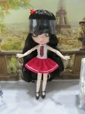 Neo Blythe Doll -Customized Shiny Nbl Face-Bjd With Back To School Outfit Clone