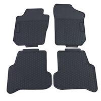 Premium Gummi Fußmatten Set 4-teilig Schwarz für Seat Ibiza 4 6J 6P ab 08