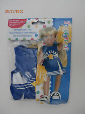 "Springfield 18"" doll Clothes Cheerleader with 2 Poms fits American Girl- NEW-"