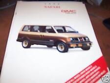 1990 GMC Safari Truck Brochure