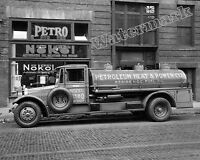Photograph of the Nokol Heating Oil Vintage Delivery Truck Year 1925  8x10