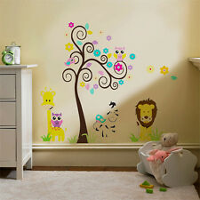 Girafle tree Kids Children Wall Stickers Mural Decal Paper Art Decoration