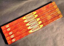 Encens Ambre bâtonnets - 5 boites - Apporte force, calme et équilibre - INDE