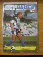 23/10/1991 Coventry City V Aston Villa [Zenith Data Systems Cup]. Objet de très
