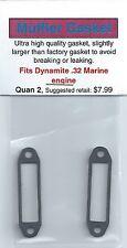 Dynamite .32 Marine Exhaust/Muffler Gasket 2 Pack NIP
