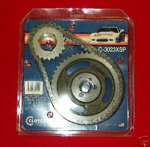 Small Block Chevy Cloyes Double Roller Timing Chain & Gear Set 3 Keyway C3023XSP