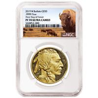 2019-W Proof $50 American Gold Buffalo NGC PF70UC FDI Buffalo Label