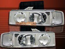 95-05 Chevy Astro Van / GMC Safari Crystal Chrome Clear Headlights Pair