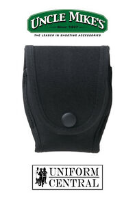 NEW Uncle Mike's Black Double Duty Handcuff Case - Police Corrections - 88571