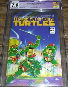Teenage Mutant Ninja Turtles #4 CGC 7.0 Mirage Studios Comics 2nd Printing