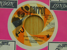 The Les Humphries 45 To My Fathers House Gospel Train Parrot promo