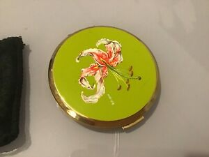 Vintage Stratton Oriental Lily Signed ERIKA Compact