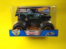 Hot Wheels Grave Digger Black Monster Jam Diecast 1:24 Scale Mattel Ages 3 & Up