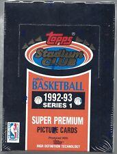 1992-93 Topps Stadium Club Basketball Series 1 Sealed Box - Get a PSA 10 Jordan!