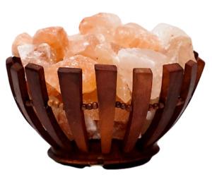 Himalayan Salt Lamp Basket Crystal Pink Rock Salt Healing Ionizing Large Chunks