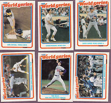 1989 Feer World Series Set - 12 cards each - Lot of 4 sets - Canseco etc - Mint