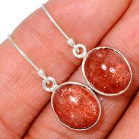 Rainbow Sunstone - Madagascar 925 Sterling Silver Earrings XGB BE7249