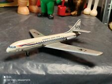 VINTAGE TIN TOY AIRPLANE TIPPCO TIPP&CO GERMANY SCANDINAVIAN AIRLINES SYSTEM