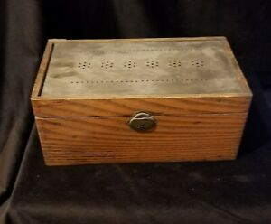 Antique Tin Lined Wooden Box