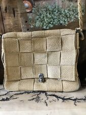 Women Woven Canvas Handbag Summer Beach Straw Rattan Crossbody Vintage Bag