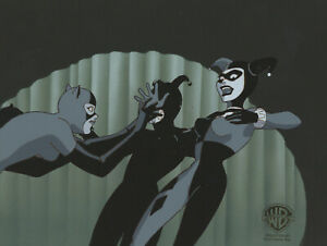 Batman Animated Series-Production Cel/Drawin-Harley Quinn+Catwoman-Almost Got Im
