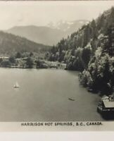 Postcard, 1944, Sailboat, Harrison Hot Springs B.C. Canada, Vintage P24
