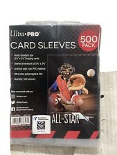 Ultra-Pro Card Sleeves 500 Pack For All Your Sports/Pokémon/Magic/Yugioh Cards