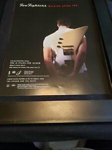 Foo Fighters Walking After You Rare Original Radio Promo Poster Ad Framed!