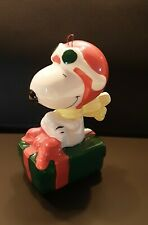 Vintage Peanuts Snoopy Flying Ace Willitts Ceramic Ornament
