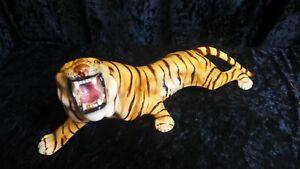 Favaro Cecchetto brüllender Tiger, Keramik , Porzellan Figur, Antik Vintage