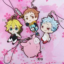 The Seven Deadly Sins Nanatsu no Taizai Anime Figure Rubber Strap Charm Keychain