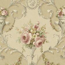 In-register Ornamental Floral Wallpaper - IM36424