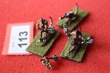 Games Workshop Warmaster caos Dragon ogros x3 10 mm Metal Pintado escaso fuera de imprenta