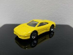 HOT WHEELS 1995 MODEL SERIES  FERRARI 355  5 DOT WHEELS  YELLOW   #10 of 12 CARS