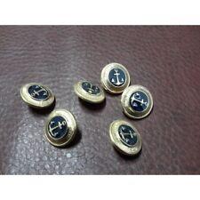 N 9092 10 Bottoni rotondi in plastica colore blu 4 fori mm 22 circa