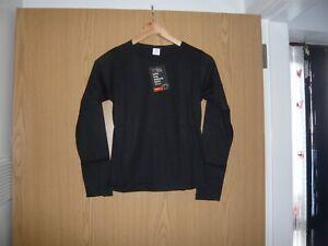ladies essential style long sleeve tshirt size 10 black