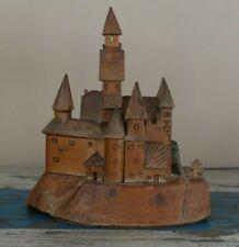 More details for vintage romanian folk art model of bran castle - dracula's castle