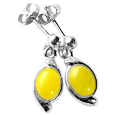 3g Authentic Baltic Amber 925 Sterling Silver Earrings Jewelry N-A5442B