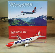"""Herpa Wings Edelweiss """"New Color"""" Airbus A330-300 1/200"""