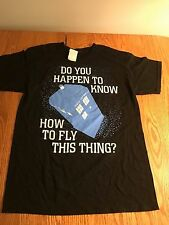 NWT Doctor Who Tardis Do You Happen To Know How To Fly This Thing T-Shirt MEDIUM