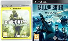 call of duty  4 modern warfare & falling skies the game   NEW&SEALED    ps3 pal