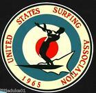 1965 UNITED STATES SURFING ASSOC.Surfboard Sticker Decal LONGBOARD Surfing