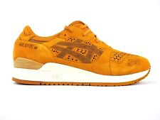 Asics Gel Lyte III LC Laser Cute H5E3L 7171 Tan Leather Lace Up Casual Trainers