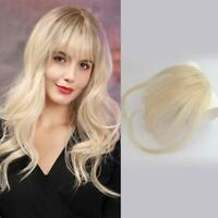 3D Clip in Bangs Human Hair Neat Air Bangs Light Fringe Blonde Bangs Hairpiece